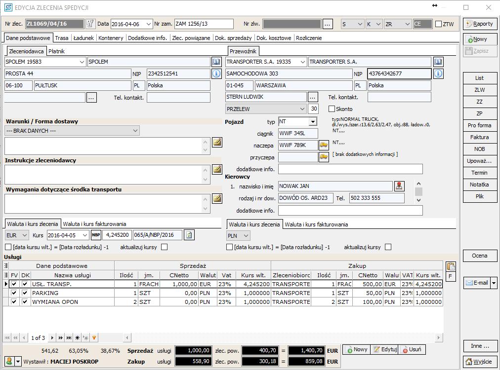 Oryginał Program dla transportu spedycji SPEDTRANS 8 | Programy dla firm FD74
